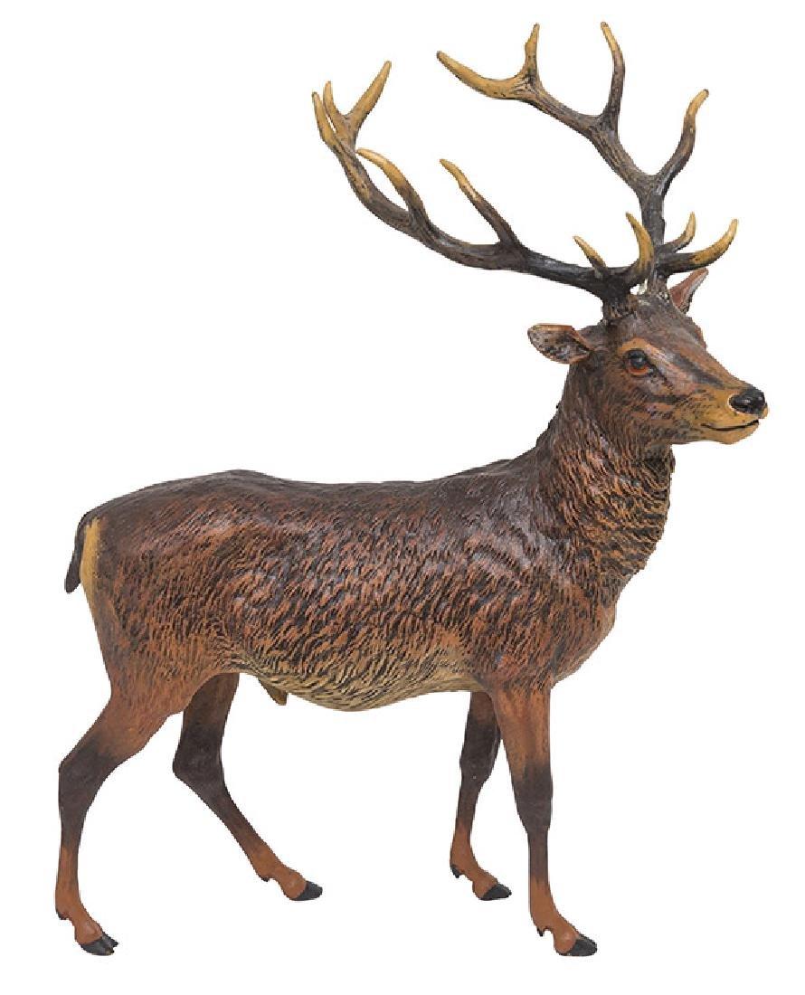 Vienna Bronze Deer Pen Holder