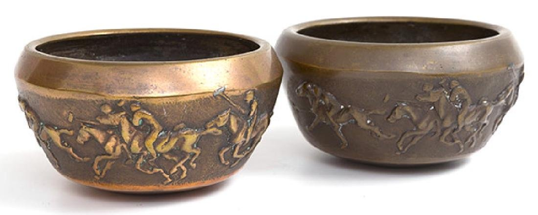 Bronze bowls with Polo Players