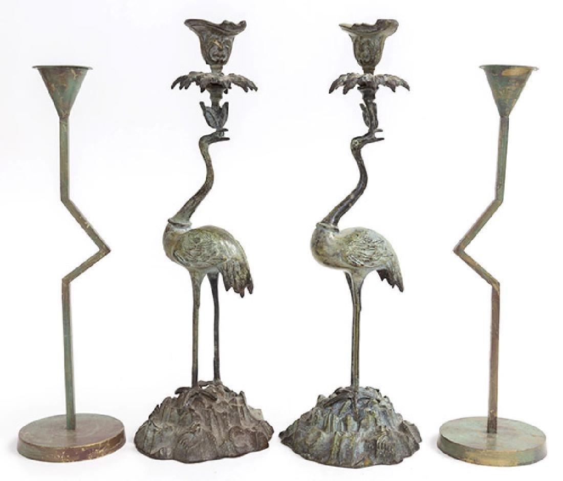 Art Deco Revival Candlesticks