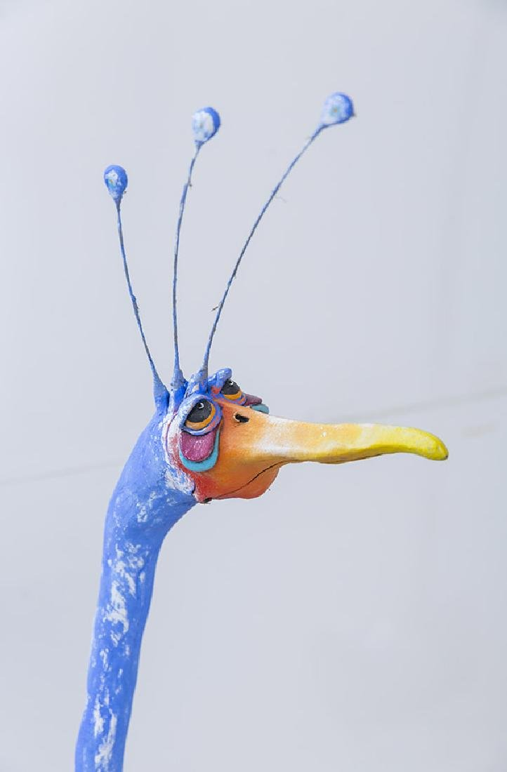 Todd Warner Blue Bird Sculpture - 5