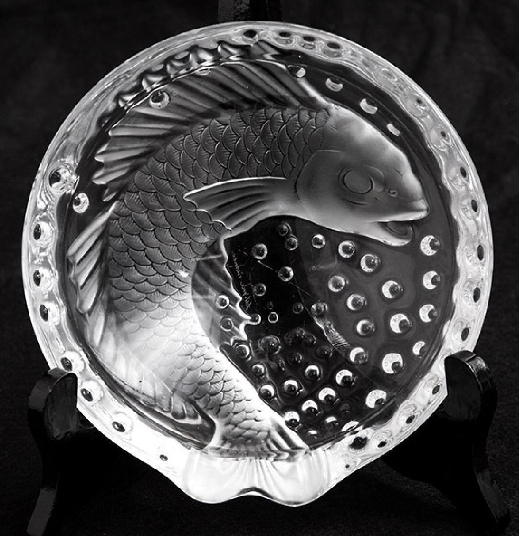 Lalique Xi'an Dragon Round Fish Bowl