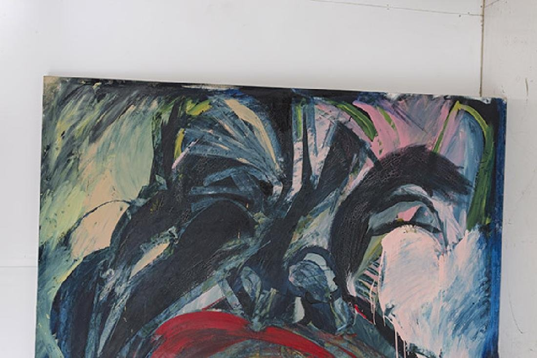 Purvis Young (Attribution)(1943-2010) Oil (Miami, Fl) - 2
