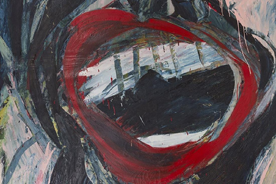 Purvis Young (Attribution)(1943-2010) Oil (Miami, Fl) - 3