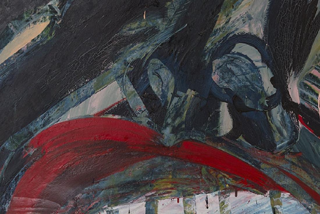 Purvis Young (Attribution)(1943-2010) Oil (Miami, Fl) - 6