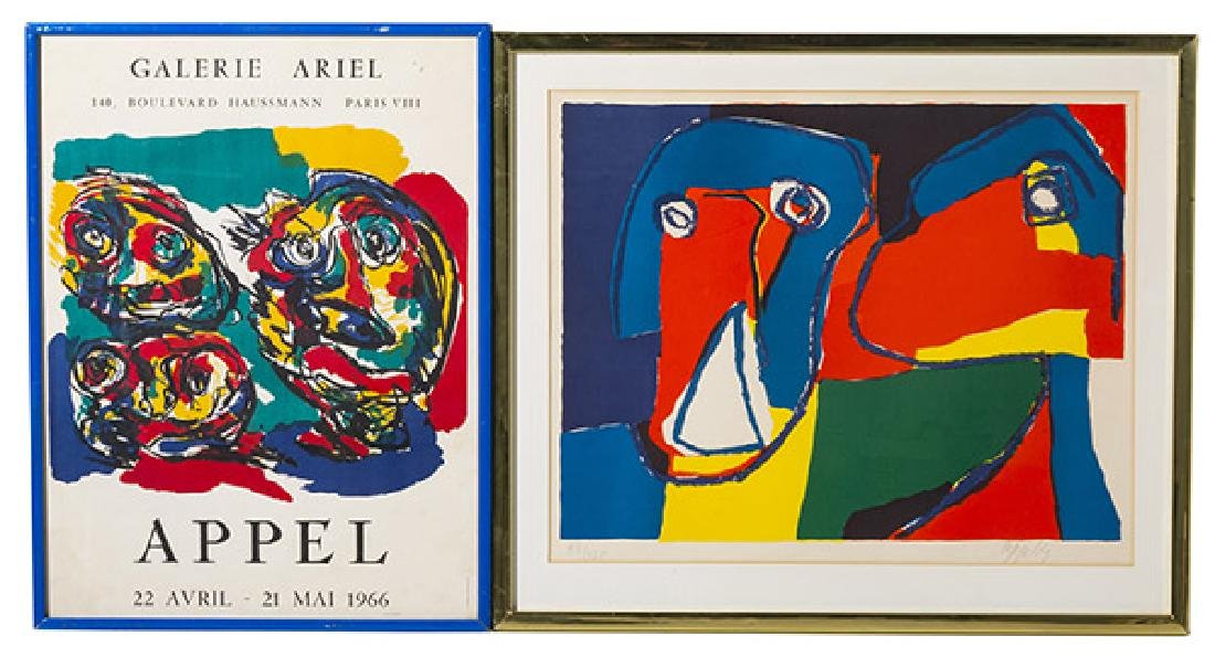 Karel Christian Appel (1921-2006) Lithograph plus (NY,