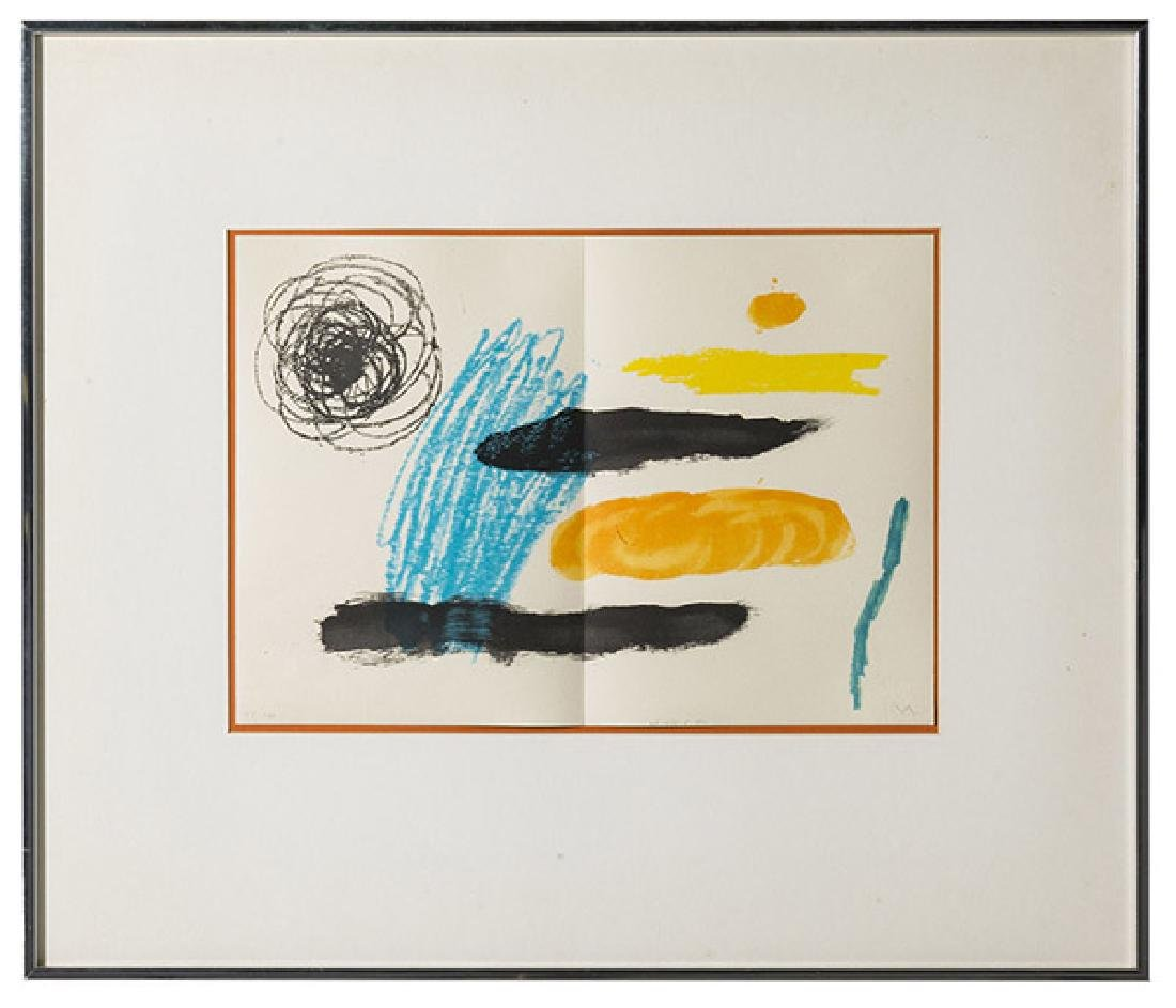 "Joan Miro (1893-1983) Lithograph ""Barcelona"" (Spain)"