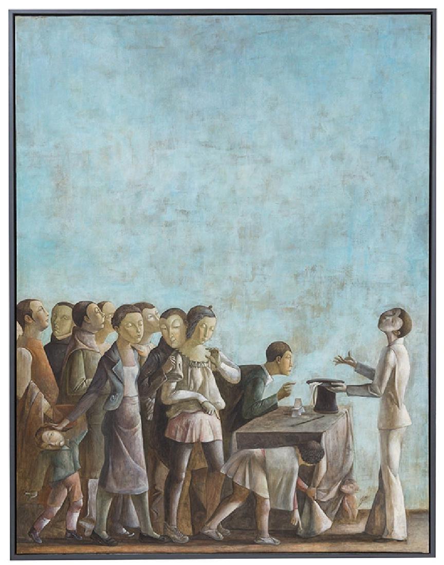 Xiao Guo Hui (Born 1969) Oil & Tempera (China)