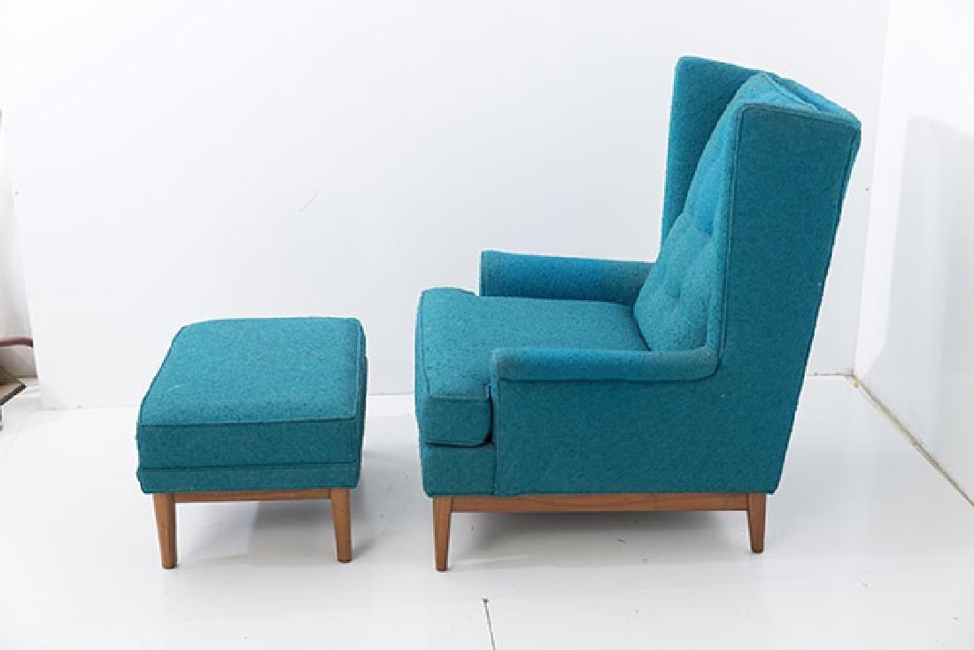 Ib Kofod-Larsen Lounge & Ottoman - 2