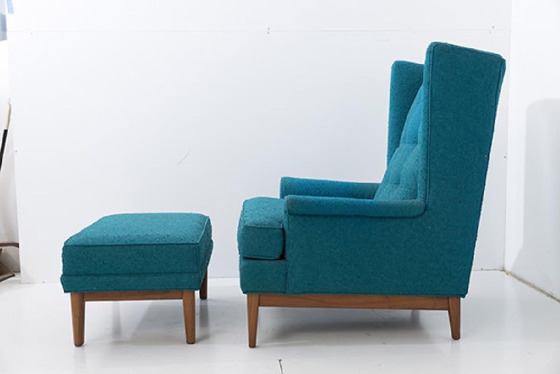 Ib Kofod-Larsen Lounge & Ottoman - 9