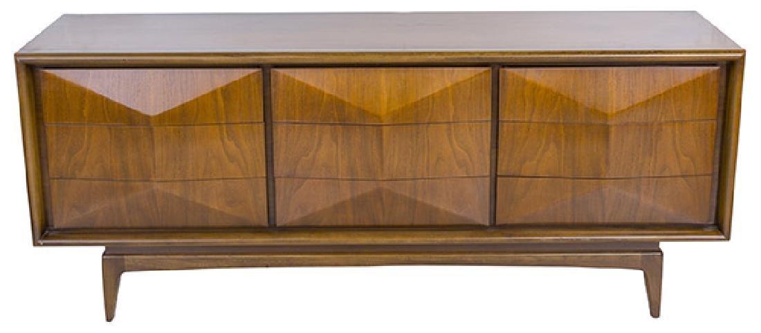 Mid-Century Diamond Front Dresser