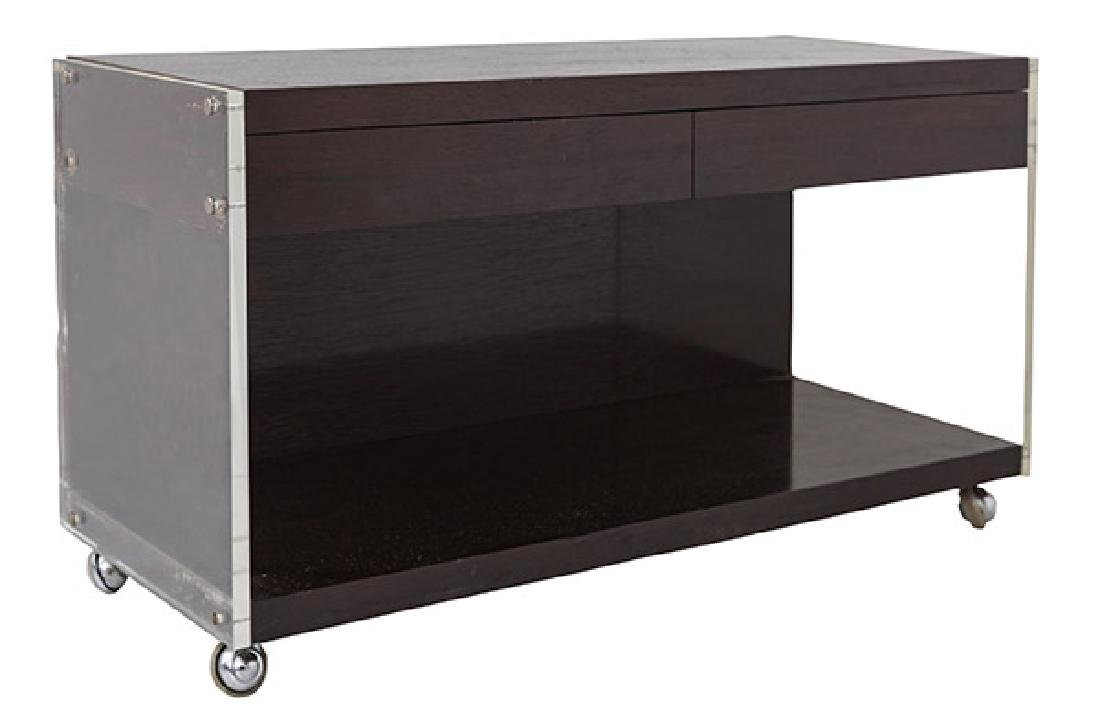 Rosewood & Lucite Console