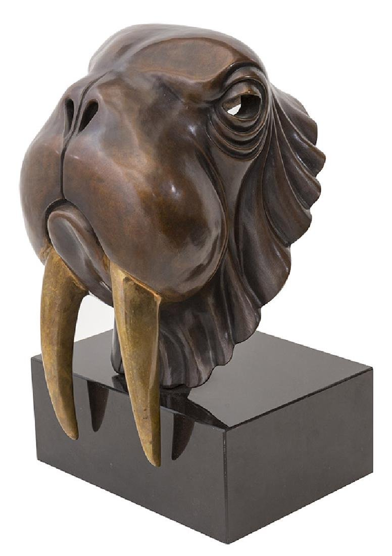 Paul Jeynes (born 1927) Walrus Bronze