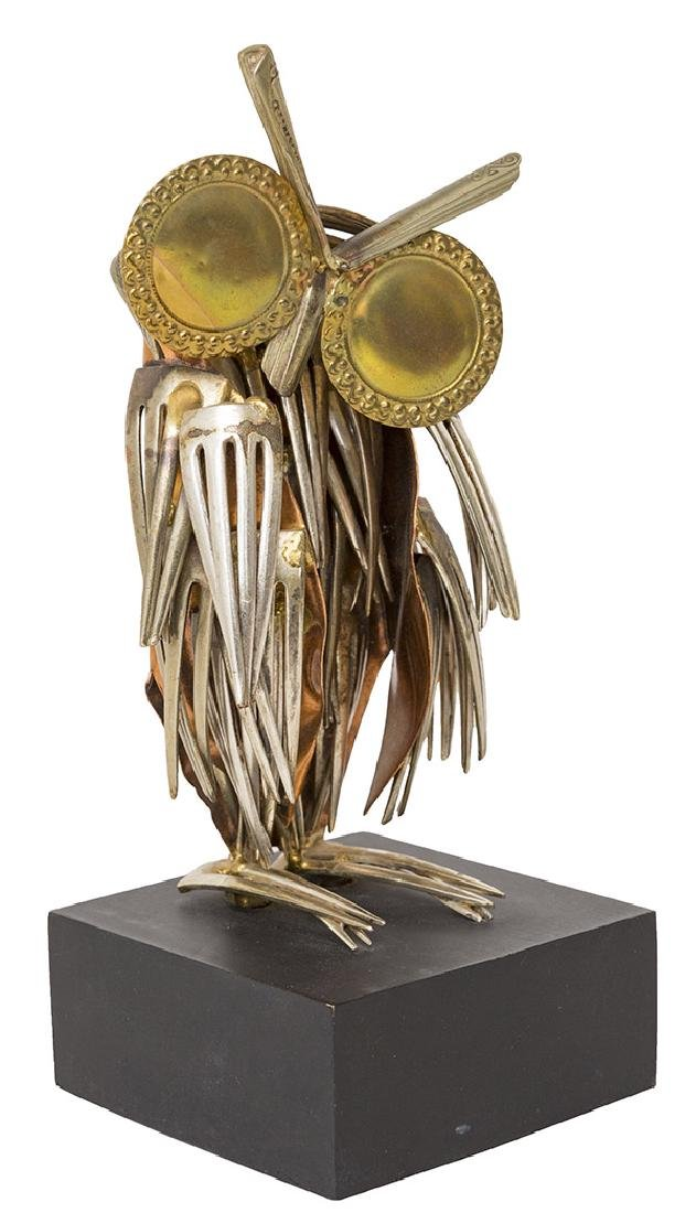 Raul Zuniga Owl Sculpture