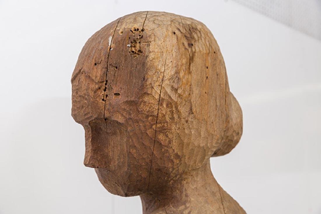 Large Mid Century Wood Century Wood Sculpture - 10