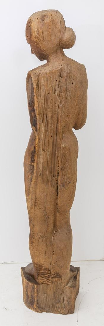 Large Mid Century Wood Century Wood Sculpture - 2