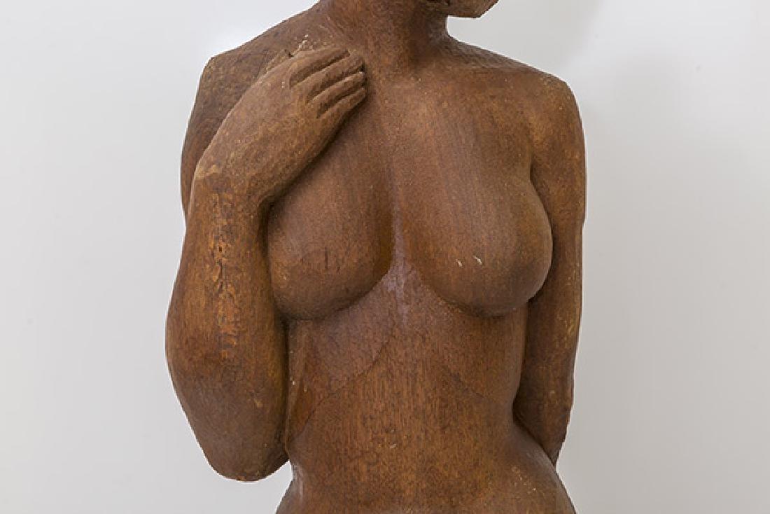 Large Mid Century Wood Century Wood Sculpture - 4