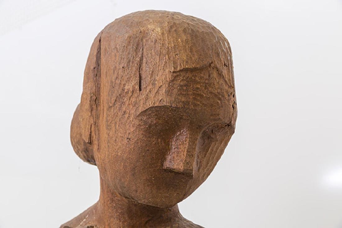 Large Mid Century Wood Century Wood Sculpture - 6