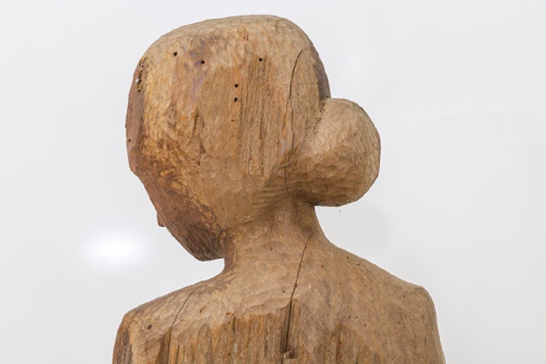 Large Mid Century Wood Century Wood Sculpture - 7