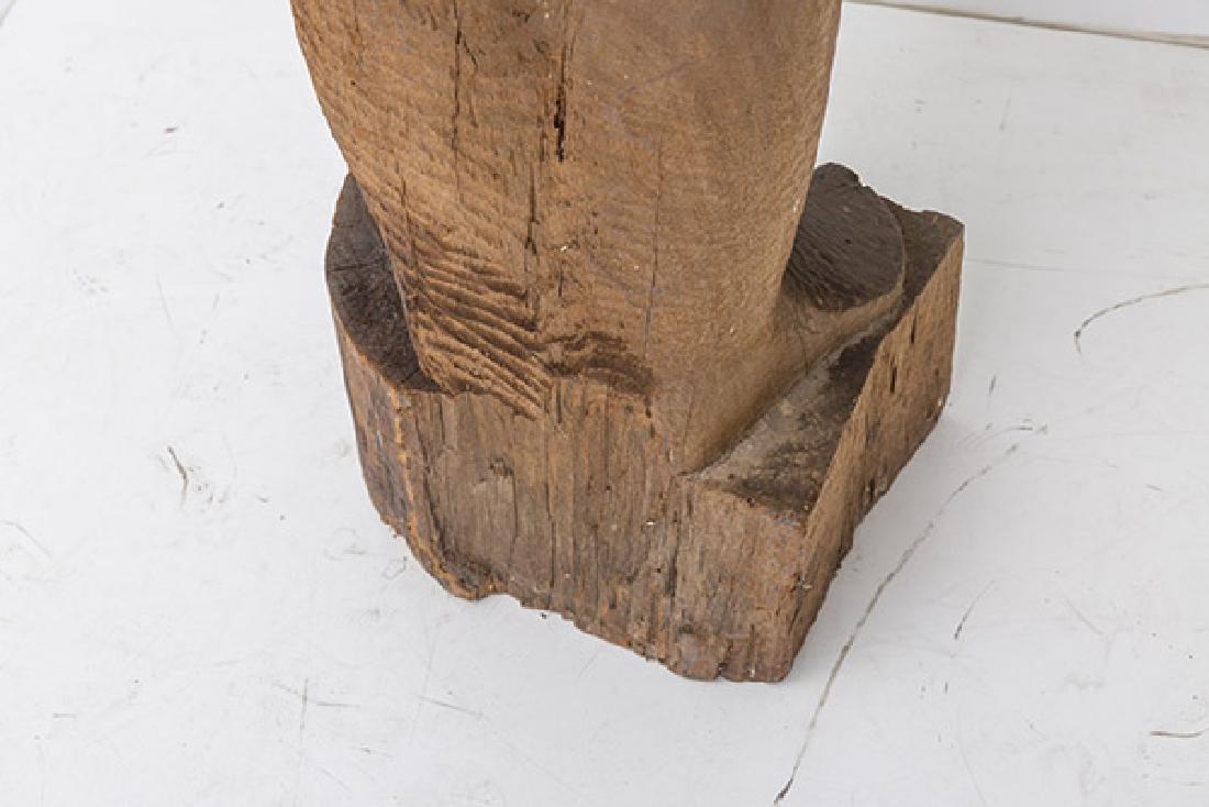 Large Mid Century Wood Century Wood Sculpture - 8
