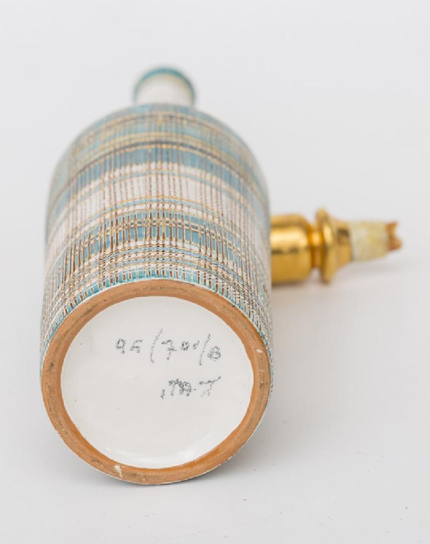 Aldo Londi/Bitossi Bottle Vase & Stopper - 4
