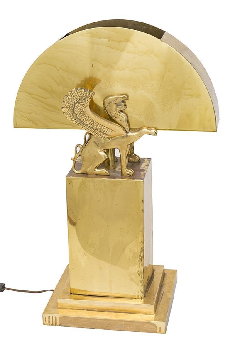 Karl Springer Style Table Lamp