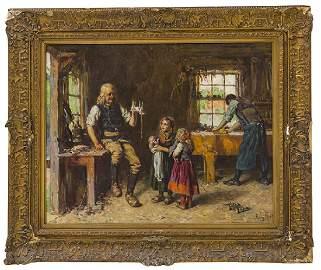 Henry Mosler (1841-1920) Oil (NY, Ohio, France)