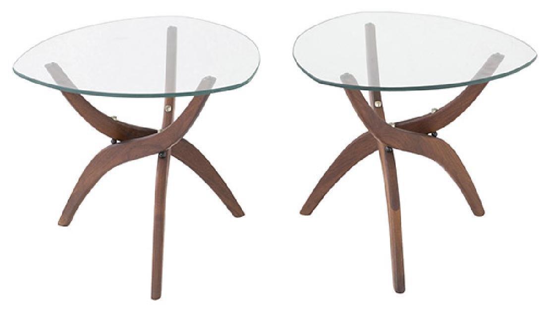 Pair Forest Wilson Sculptural Tables