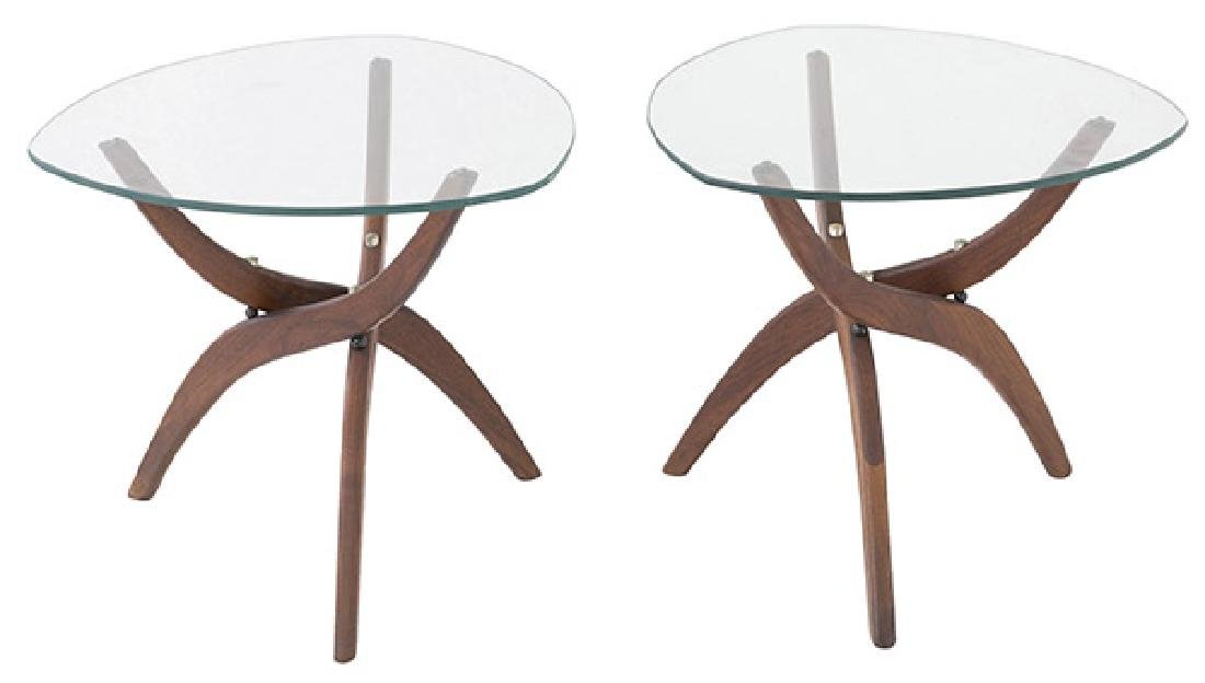 Pair Forest Wilson Sculptural Tables