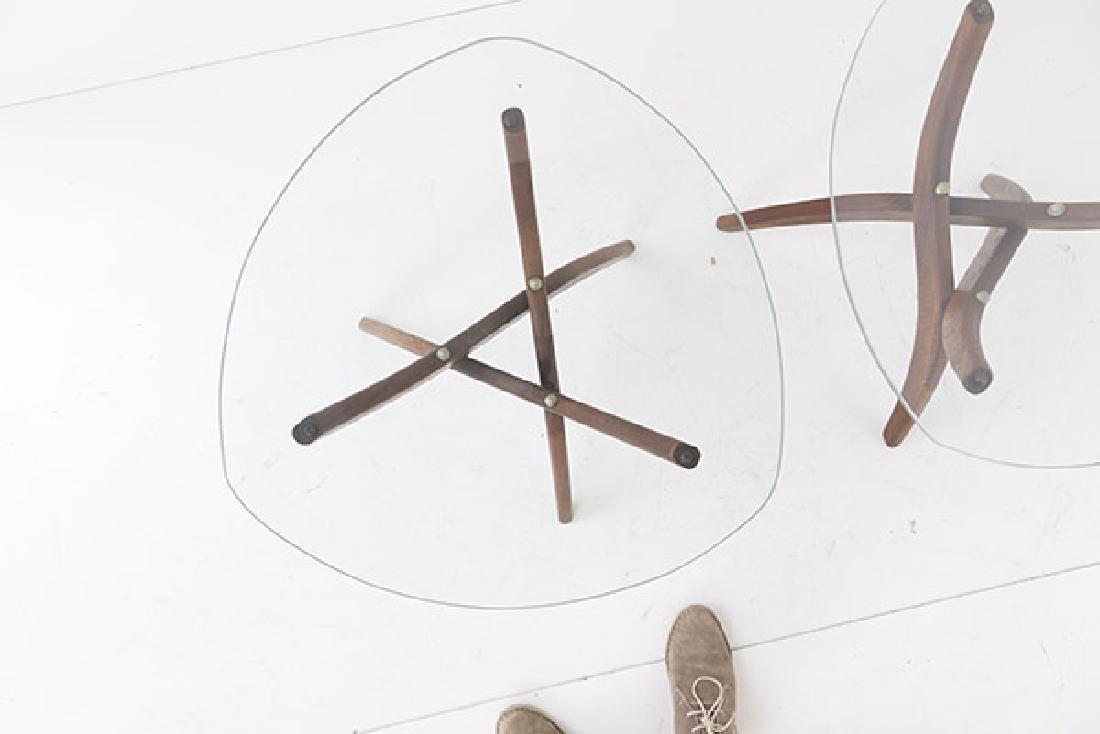 Pair Forest Wilson Sculptural Tables - 6