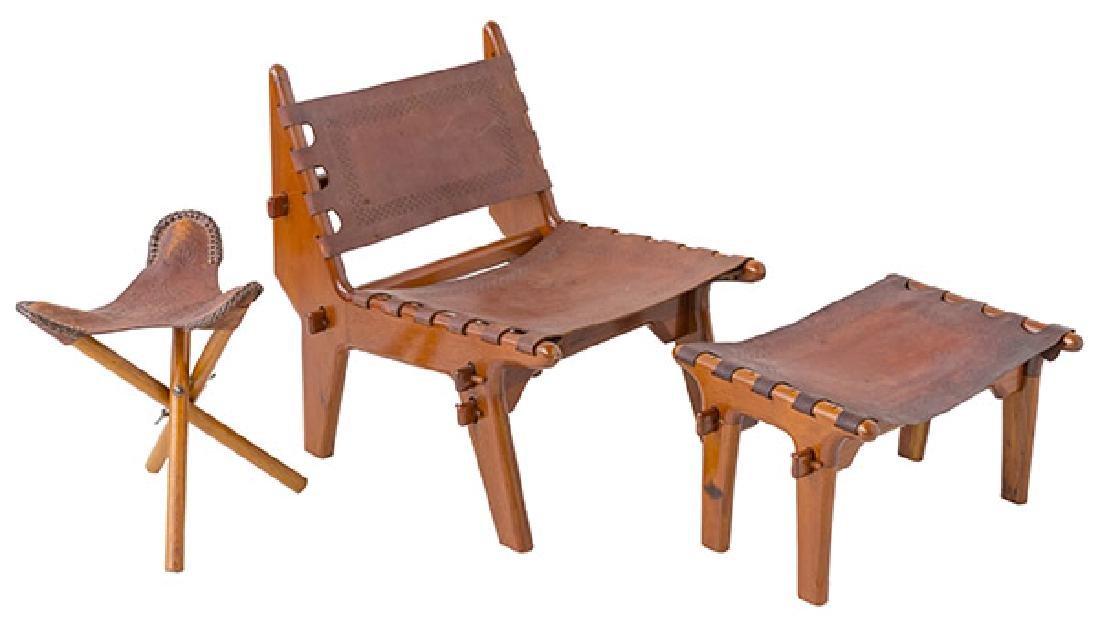 Angel Pazino Easy Chair/ Ottoman/ Stool