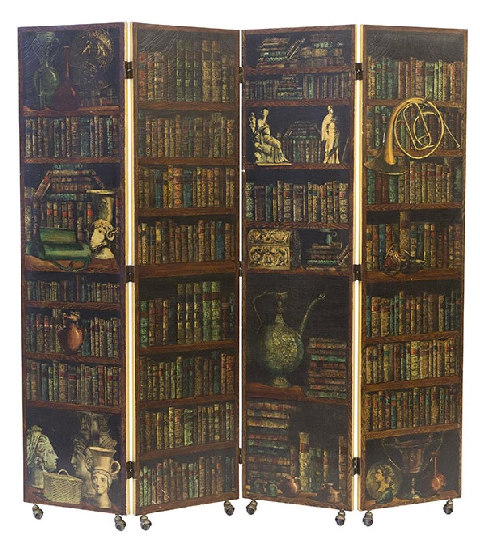 Piero Fornasetti Libreria Folding Screen