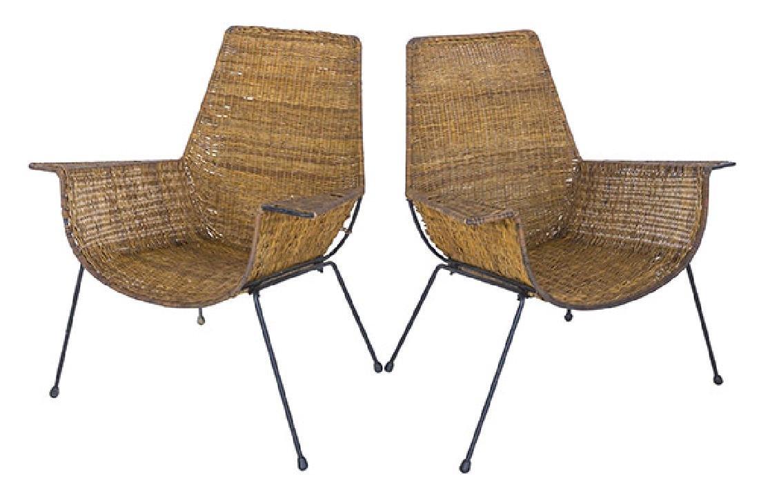 Hendrick Van Keppel & Taylor Green Lounge Chairs