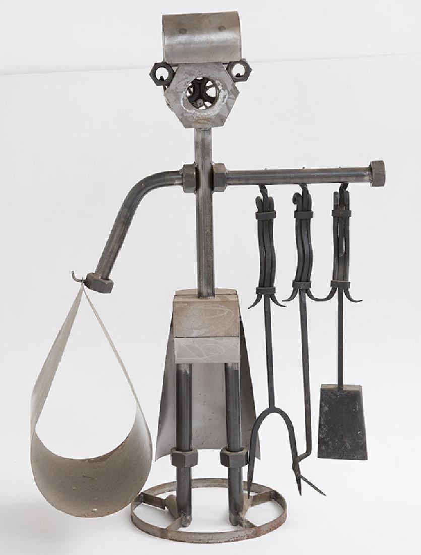 Sculptural Fire Tools & Stand - 2