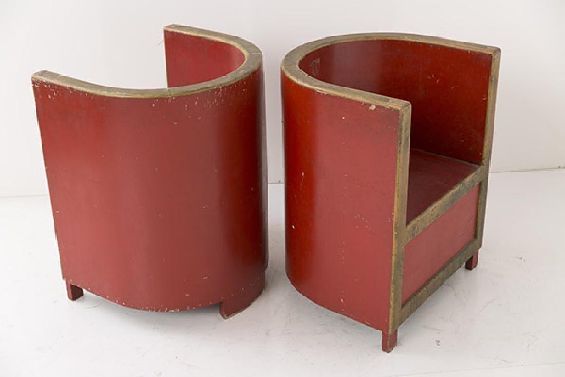 Art Deco Club Chairs - 4