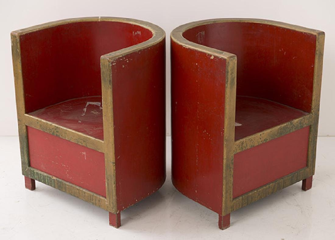Art Deco Club Chairs - 5
