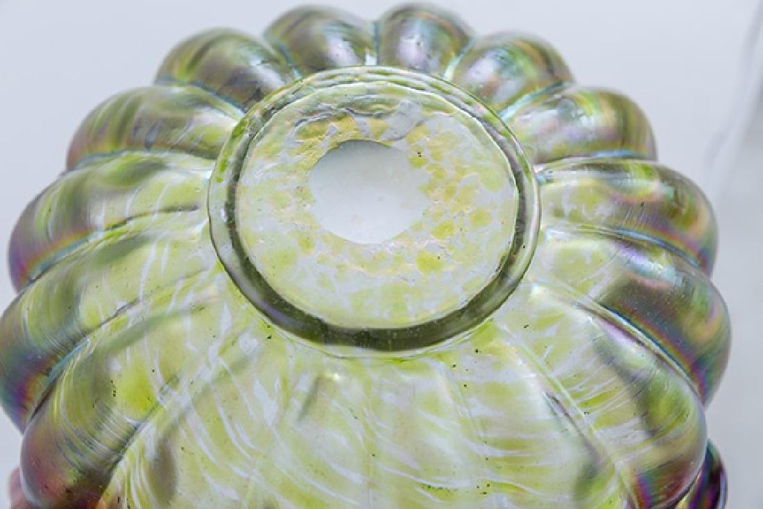 Large Loetz Austrian Art Glass Bowl - 5