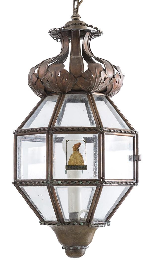 Italian Copper Hanging Pendant Light
