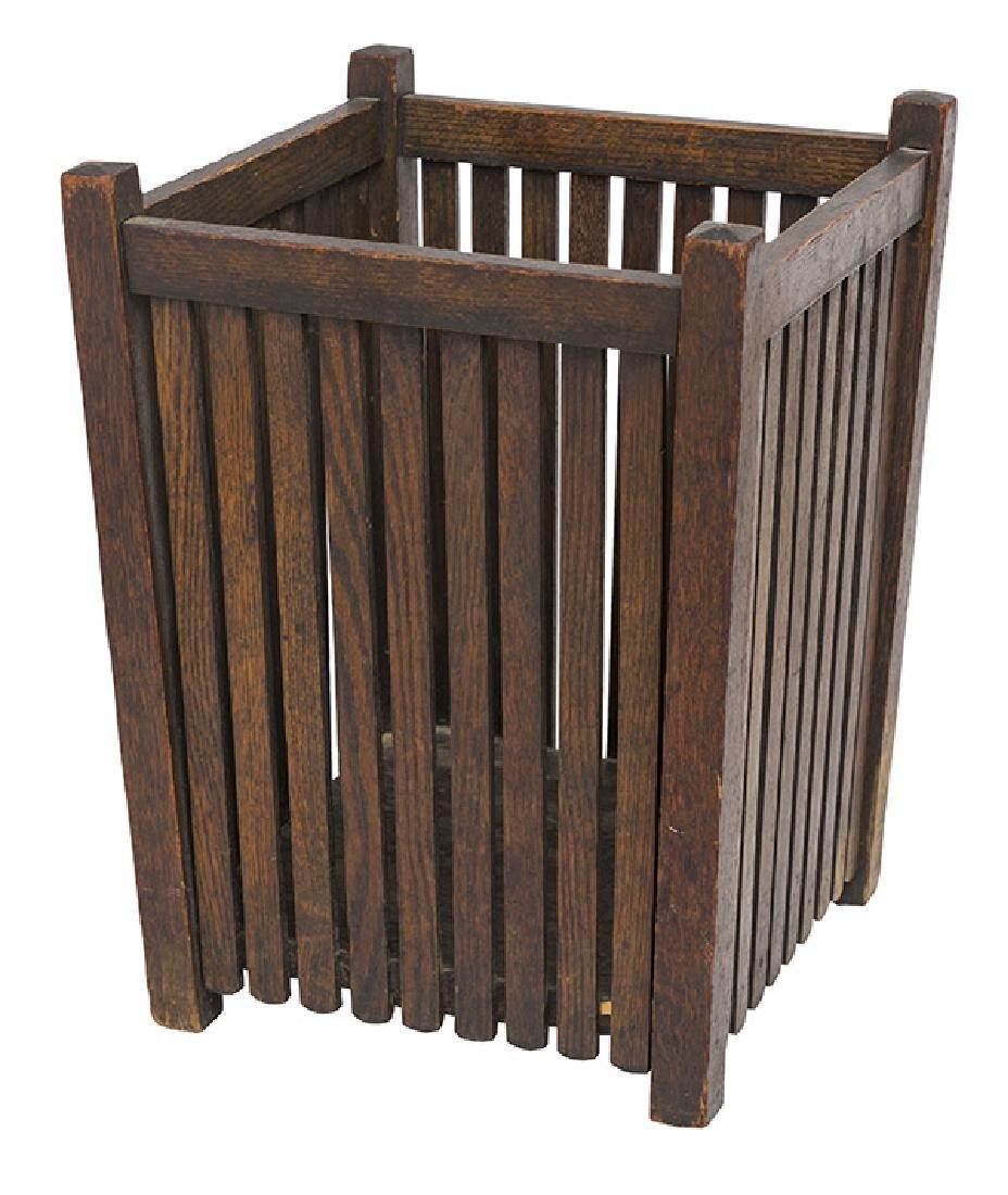 Arts & Crafts Slatted Waste Basket