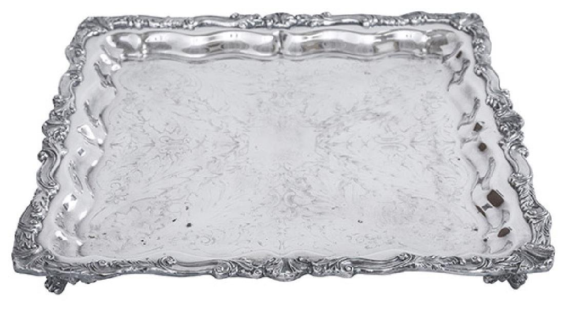 Outstanding Square Silver Plated Tray