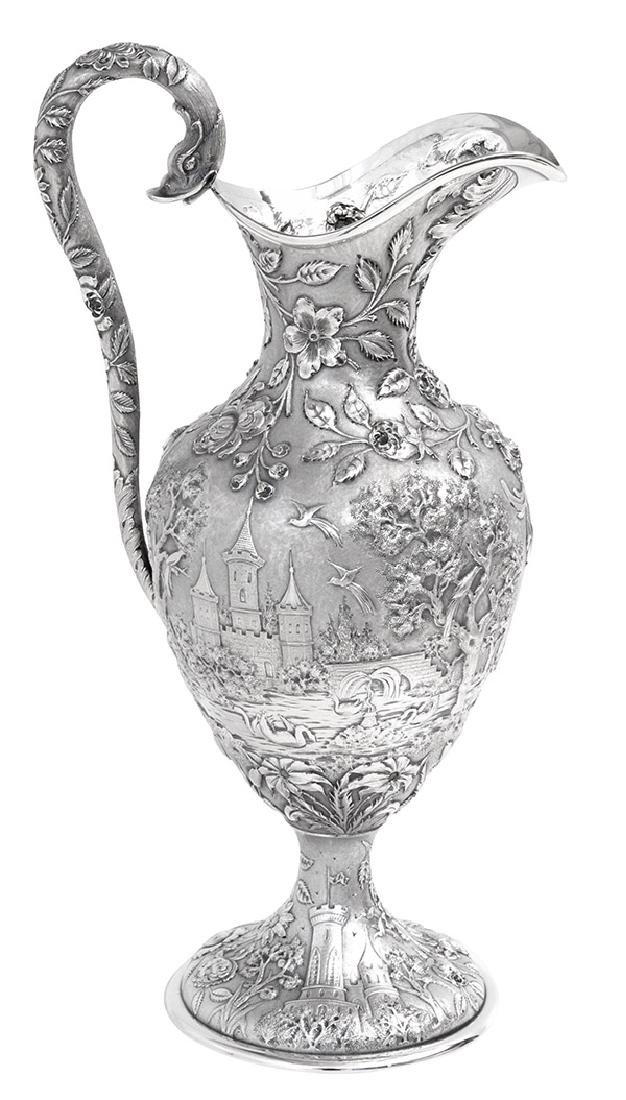 Sterling Repousse Water Pitcher