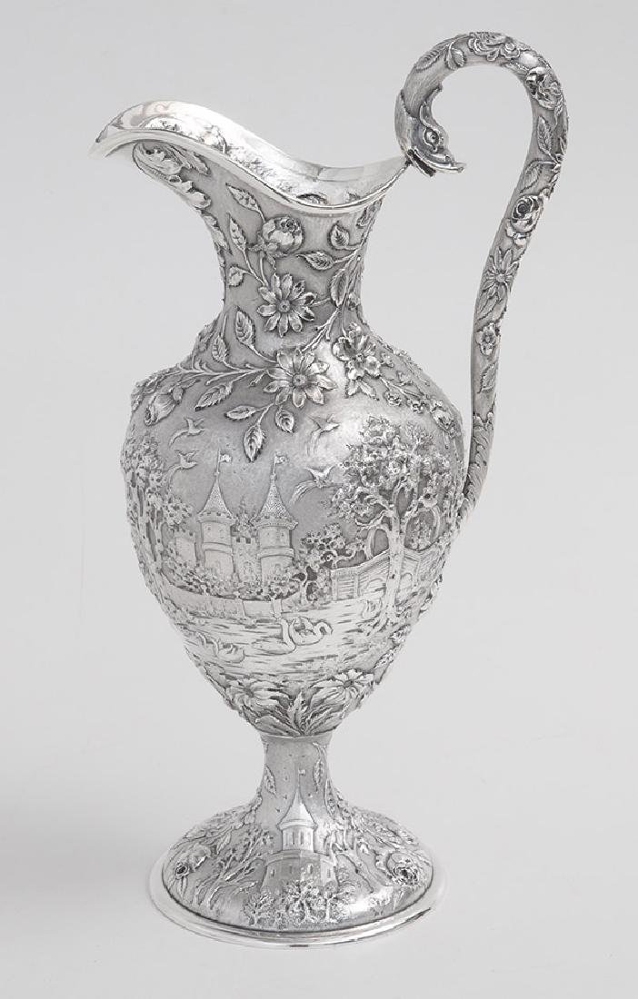 Sterling Repousse Water Pitcher - 2