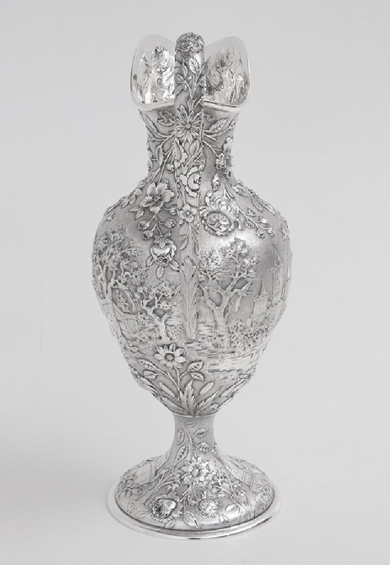 Sterling Repousse Water Pitcher - 4