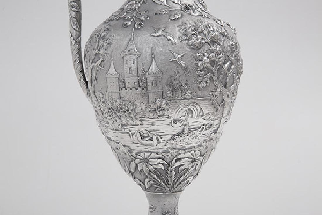 Sterling Repousse Water Pitcher - 5