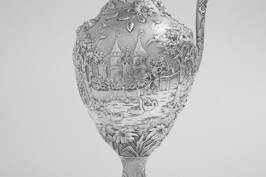 Sterling Repousse Water Pitcher - 6