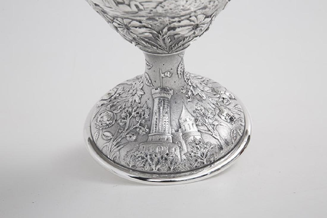 Sterling Repousse Water Pitcher - 8