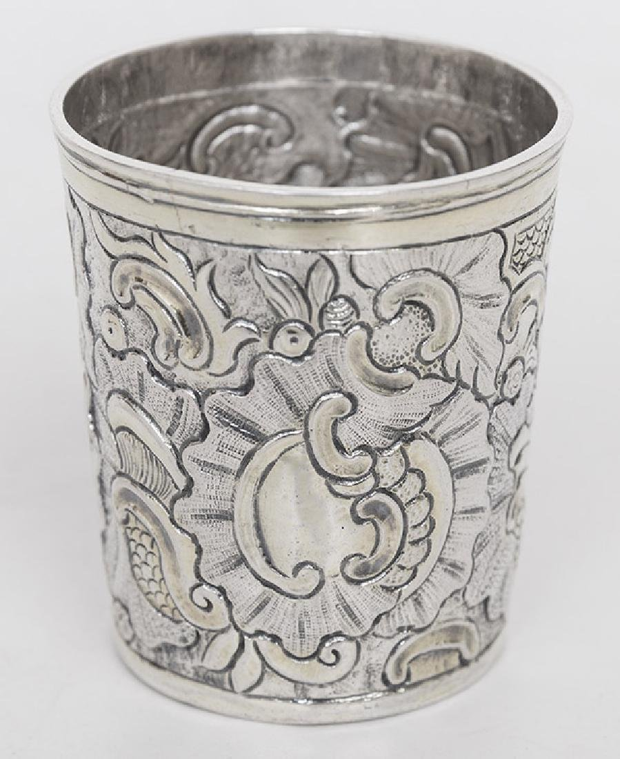 Hand-Hammered Japanese Silver Cup - 3