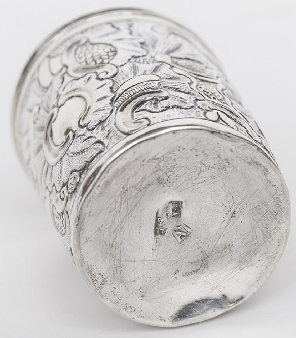 Hand-Hammered Japanese Silver Cup - 5
