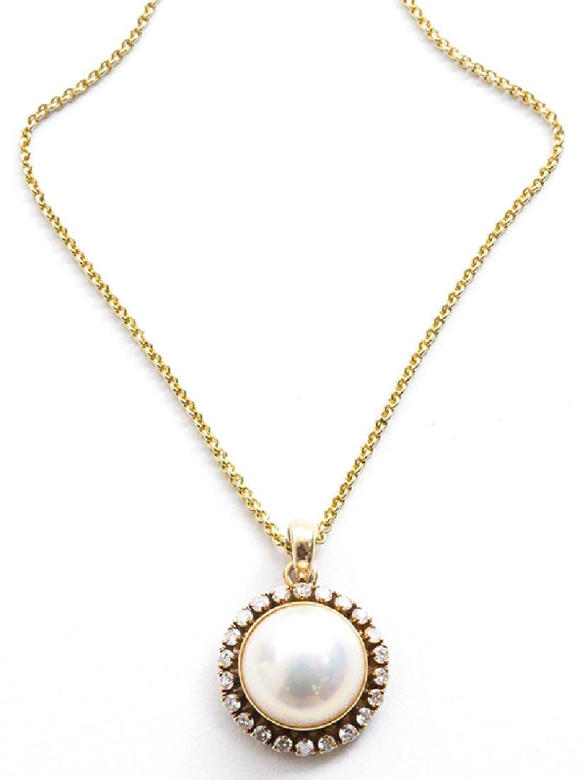 14K Mabe' Pearl Necklace