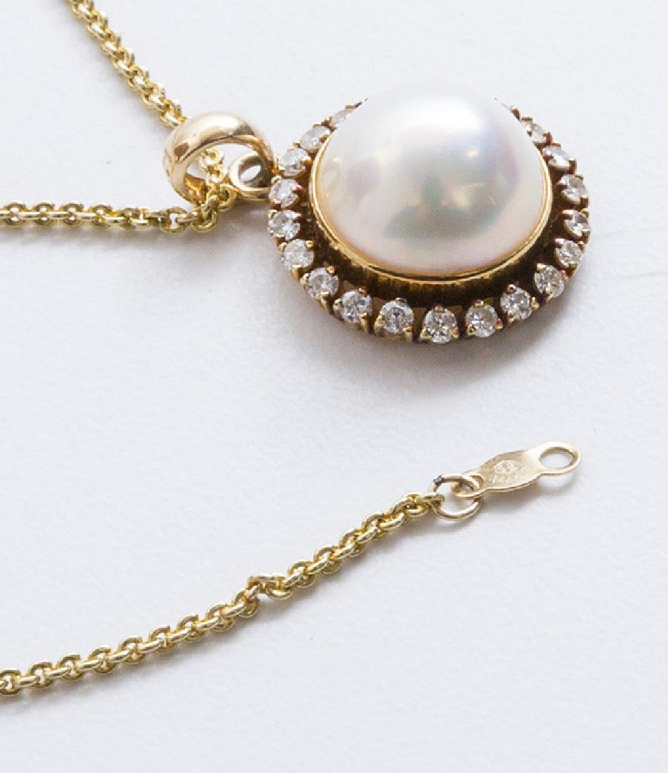 14K Mabe' Pearl Necklace - 2