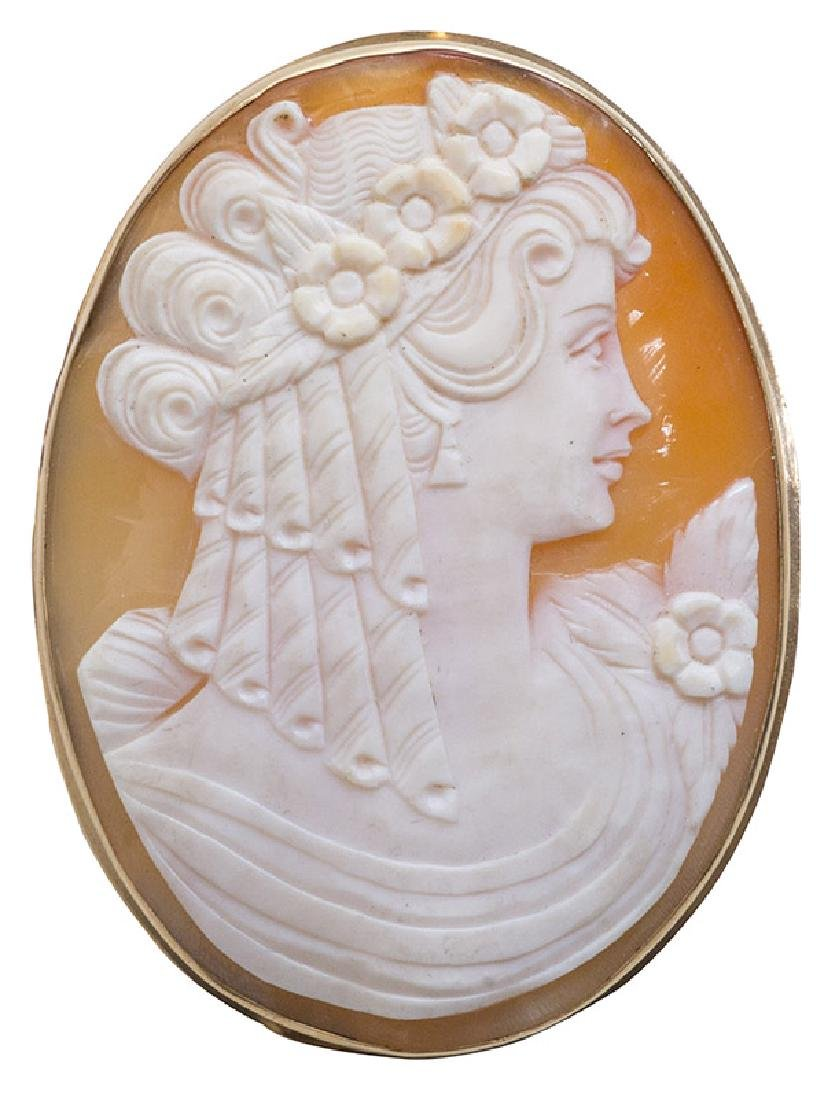 Oval Cameo Pin/Pendant